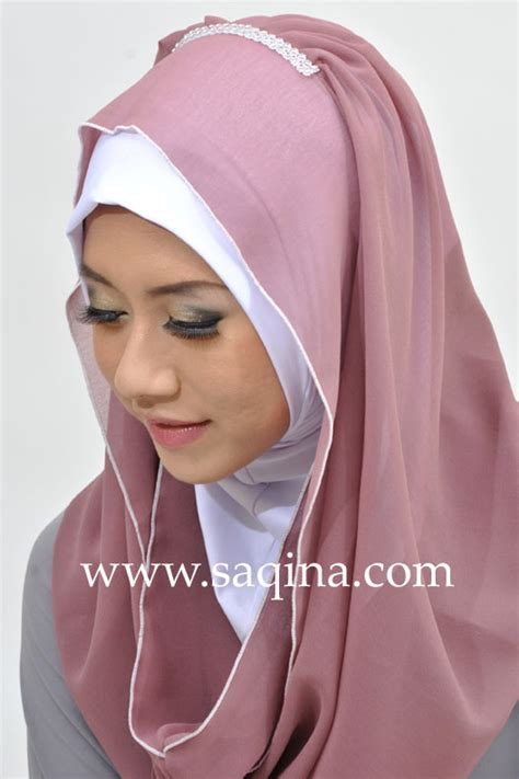 Kerudung Instan Trendy kerudung sosor kerudung instan nan modis saqina daily wear