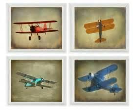 Vintage Airplane Decor For Nursery Vintage Airplane Baby Boy Nursery Wall Big Boy