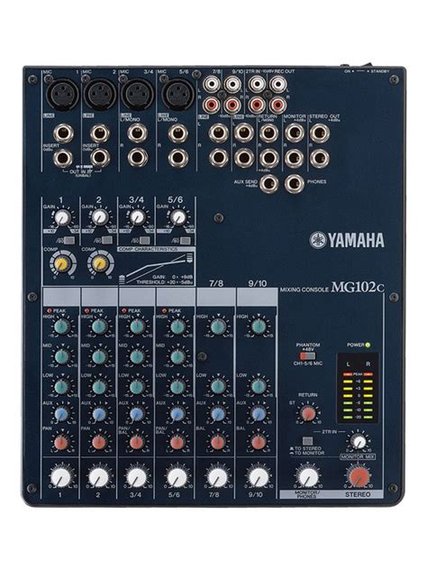 Daftar Mixer Yamaha 4 Channel yamaha mg102c 4 channel mixer musicroom