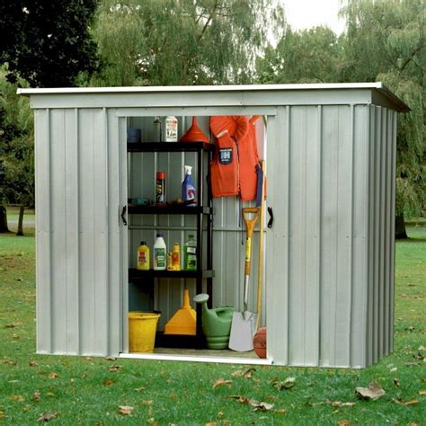 10 X 4 Shed Yardmaster Store All 104pz Pent Metal Shed 10x4 One Garden