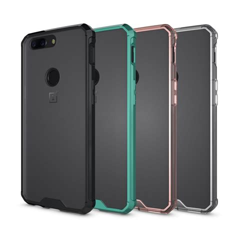 Oneplus 5t Clear Soft protective soft tpu with clear pc panel for