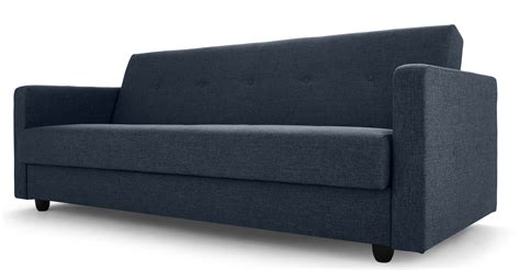 sofa bed and storage chou sofa bed with storage quartz blue made com