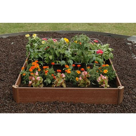 home depot garden bed greenland gardener 42 in x 42 in raised garden bed kit