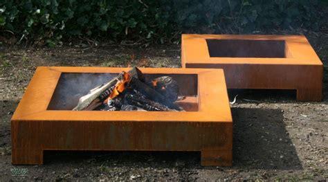 Cortenstahl Feuerschale by Feuerschale Cube Design Aus Cortenstahl Stahl Feuerschale
