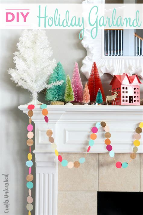 diy home decor crafts blog christmas garland diy easy colorful consumer crafts