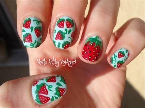 tutorial nail art strawberry u 209 as decoradas dise 241 os de u 241 as para principiantes youtube