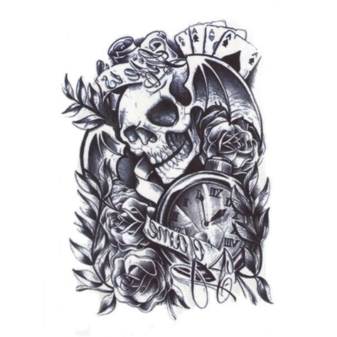 tattoo flash art for men 12 styles 3d waterproof arm leg sticker