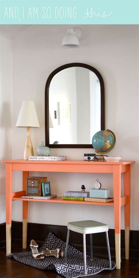 entryway table ls 1000 images about orange painted furniture on