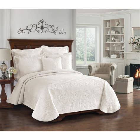 matelasse twin coverlet historic charleston collection king charles ivory