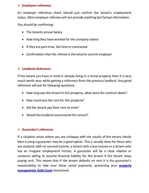 Reference Letter For Rental Property From Employer How To Find The Best Tenants With Property Management Gold Coast