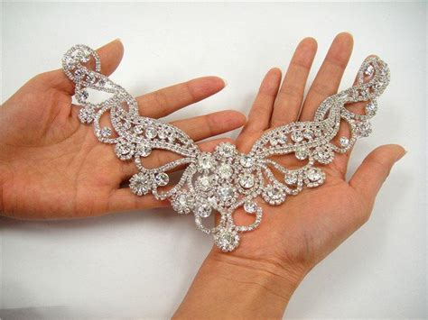 diamante applique wedding rhinestone applique sweet rhinestone