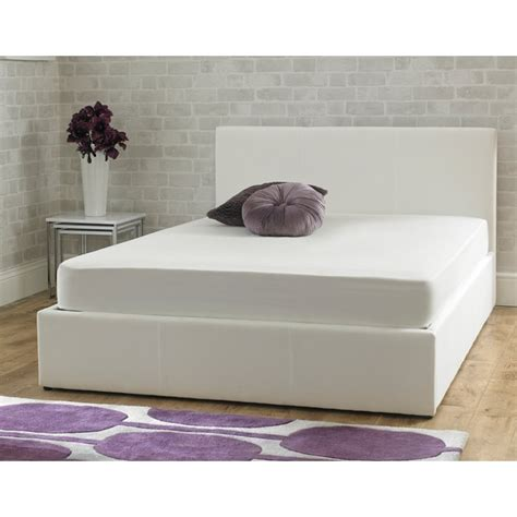 cheapest ottoman beds cheapest stirling 4ft6 double white fabric ottoman bed uk