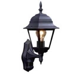 Bq Outdoor Lighting Lights Outside Polperro Black External Pir Lantern Departments Diy At B Q