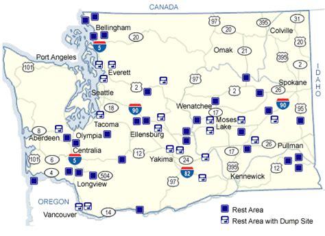 map of oregon rest stops wsdot rest areas latitude and longitude