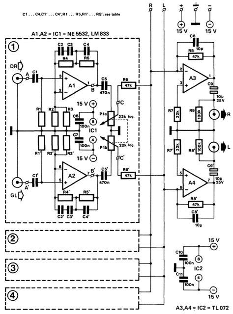 Pcb Mixer Audio disco audio mixer circuit 187 circuitszone