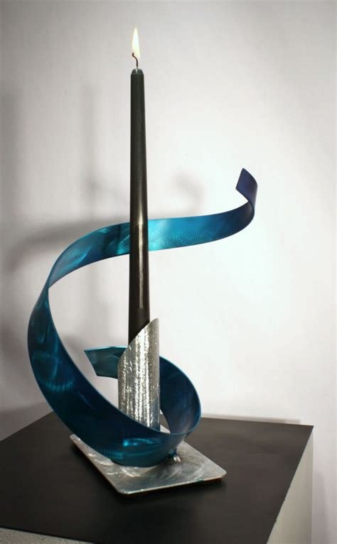 Modern Sculpture Home Decor Modern Metal Candelabra Abstract Table Sculpture Decor Original Design By Alex Kovacs