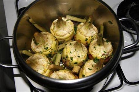 come cucinare le mammole carciofi interi con la pentola a pressione ricette in