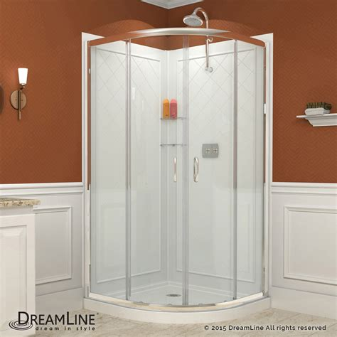 Glass Shower Enclosures With Base Dreamline Prime 33x33 Enclosure Base And Backwall Clear