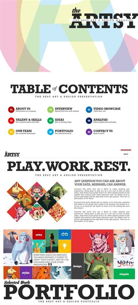 creativemarket artsy magazine powerpoint template