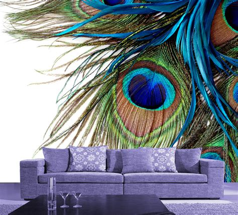 wall paper murals aliexpress buy modern large wall mural peacock feather wallpaper wallpaper murals