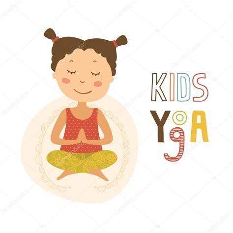 imagenes de yoga animadas ilustraci 243 n de yoga para ni 241 os vector de stock