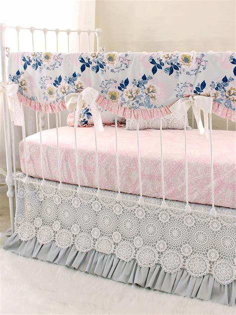 ethereal lullaby rail cover bumperless baby bedding gray