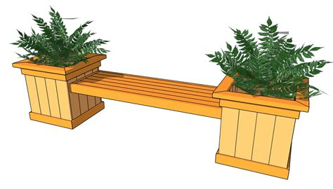 planter bench plans wooden planter box bench plans woodproject