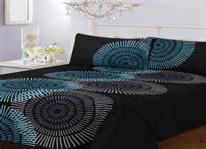 Black And Teal Duvet Cover Image Detail For Teal Duvet Set Quilt Cover 2 Pillowcases