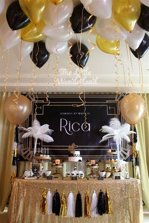 great gatsby themed party ideas we heart parties glam great gatsby party hottest