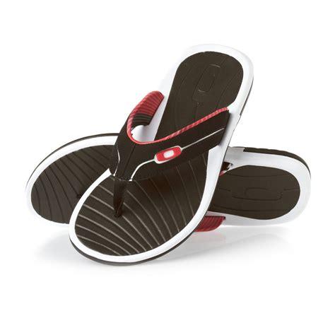 Oakley Black White oakley dune flip flops black white free uk delivery
