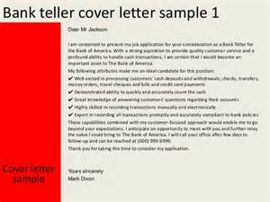 cover letter for bank teller free cv exle