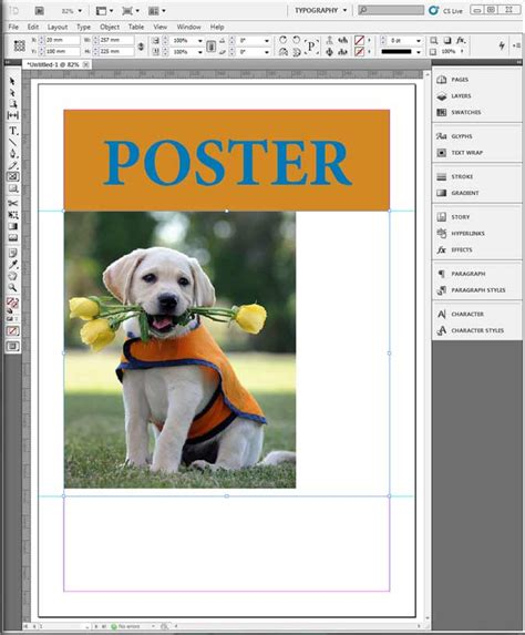 tutorial indesign poster indesign poster tutorial