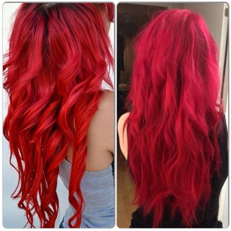 bright hair color for curly hair bright vibrant red hair color my style pinterest