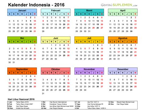 printable calendar 2016 indonesia kalender 2016 printable 2018 calendar free download usa