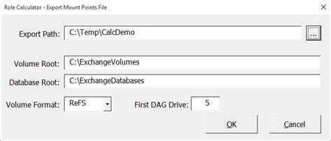 diskpart format refs exchange server role requirements calculator update you