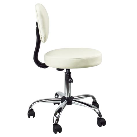 Medicine Office Chair by Doctor Dental Salon Stool With Back Cushion