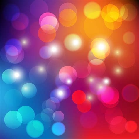 Colorful Light Fixtures Colorful Bokeh Light Abstract Background Vector Illustration Free Vector Graphics All Free