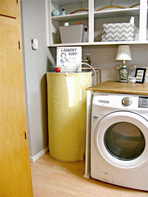 old hot water heater uses laundry room redo hiding the electrical panel hot