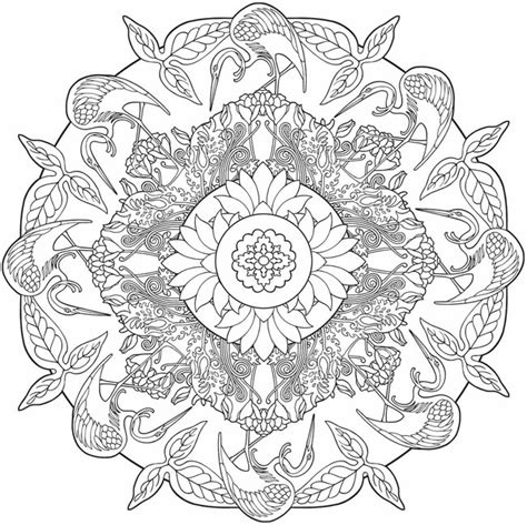 healing mandala coloring pages nature 5