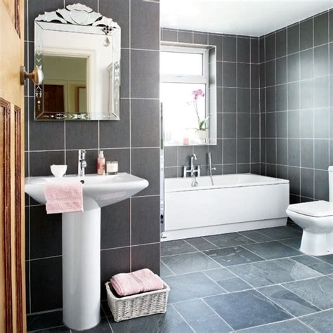 grey and pink bathroom gray tile and pink bathroom bathroom design ideas