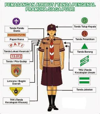 Baju Pramuka Penegak Putri No 13 atribut pramuka siaga lengkap materi pramuka