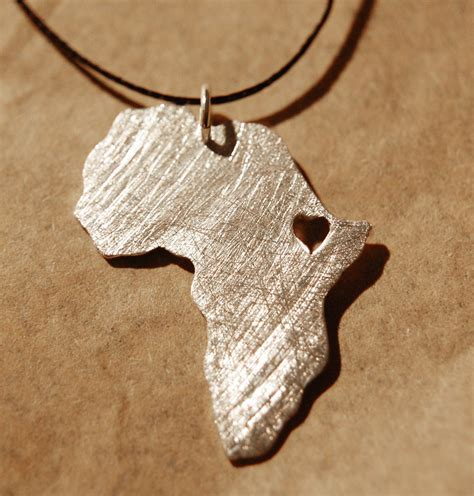 africa map necklace africa pendant africa necklace adoption