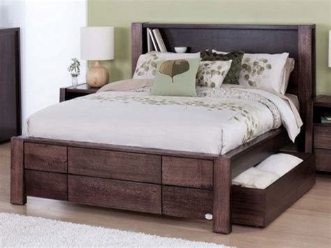 Bed Frame With Headboard Storage Traditional King Size Storage Bed Frame Bed Storage