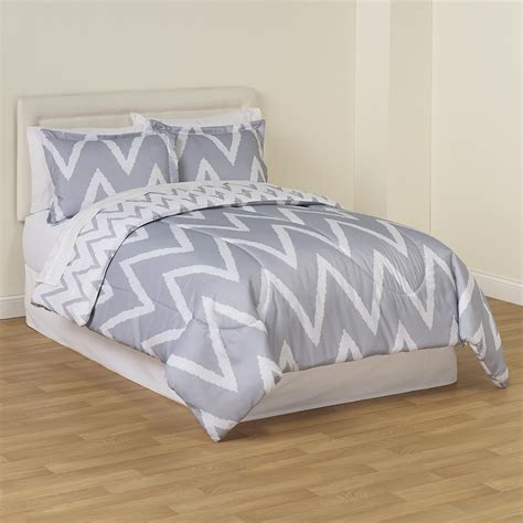 3 piece reversible mini comforter set zigzag home