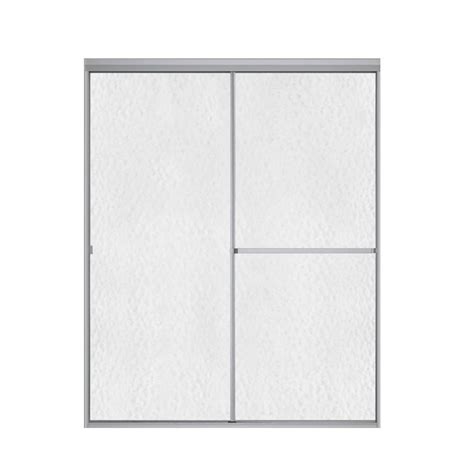 Sterling Bypass Shower Door Sterling Plumbing Standard 52 In X 65 In Framed Bypass Shower Door In Soft Silver 660b 52t On