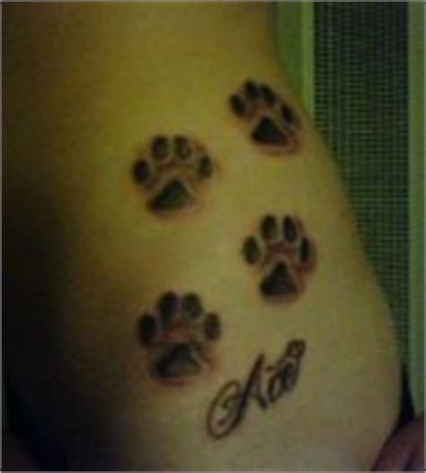 tattoo cat paws meaning cat paw print