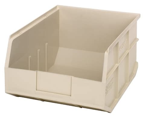plastic storage stackable shelf bin ssb445 14 quot x 11 quot x