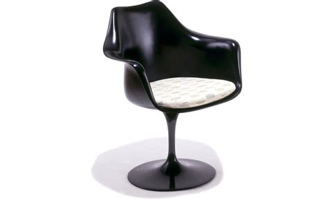 Saarinen Black Tulip Arm Chair   hivemodern.com