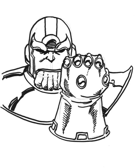 marvel thanos coloring pages coloring pages thanos printable for kids adults free