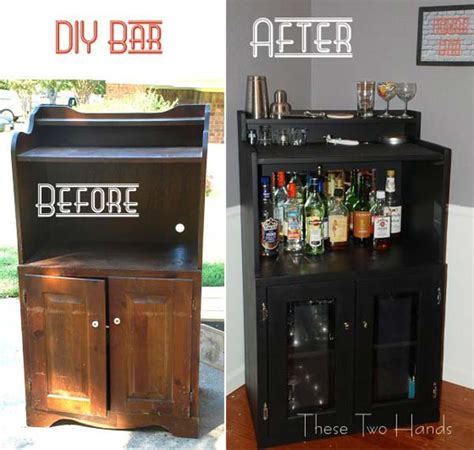 diy mini fridge cabinet 21 budget friendly cool diy home bar you need in your home